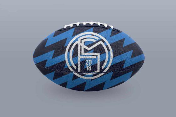 NFL Football Ball Mockup PSD