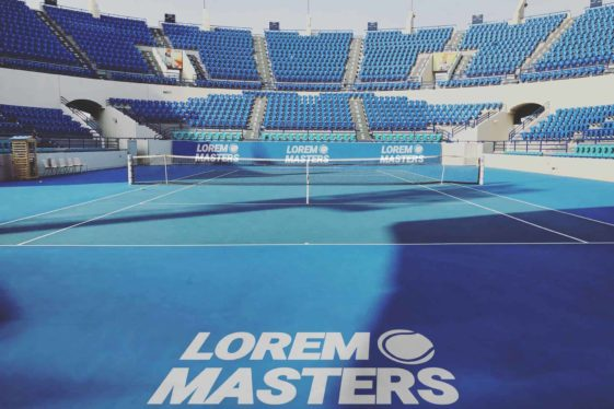 Tennis Court Free Mockup PSD