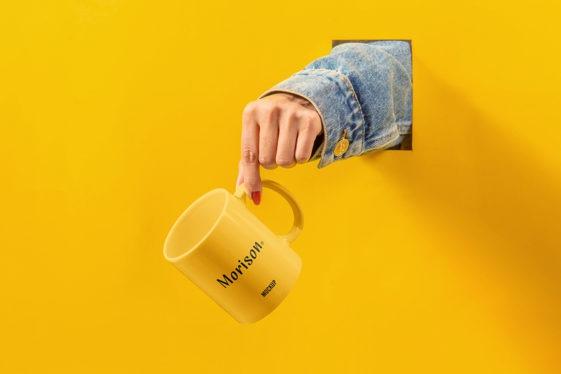 Coffee Mug Mockup with Hand