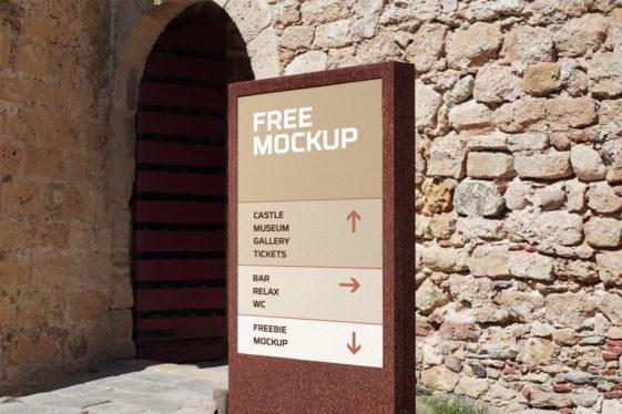 Wayfinding Signage Mockup