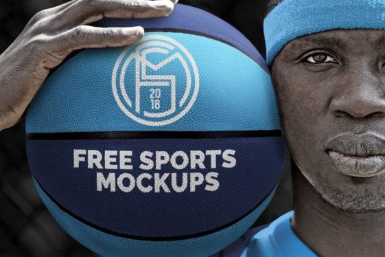 Free Basketball Ball Player Mockup