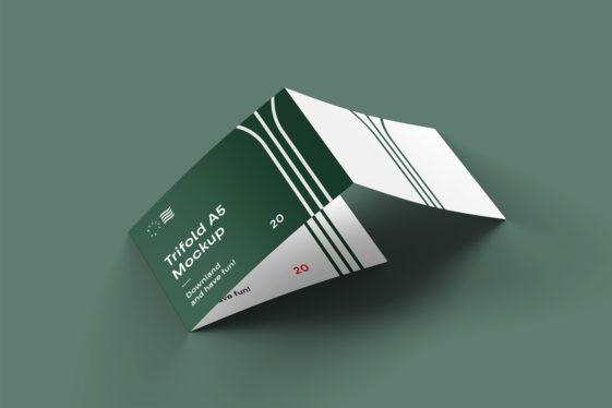 3-Fold Landscape Brochure Mockup