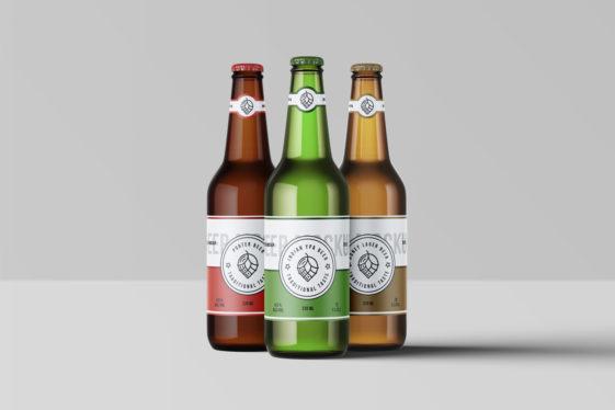 Beer Bottles PSD Mockup