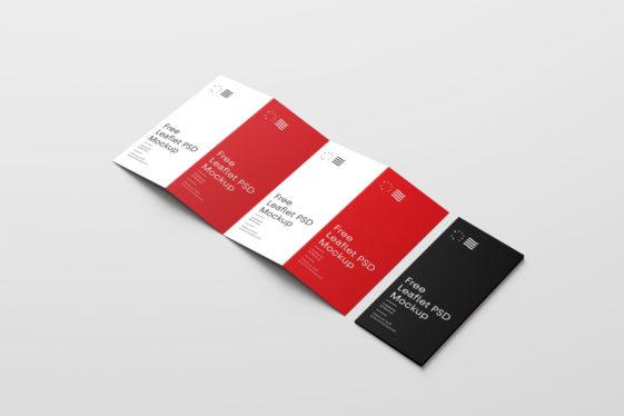 Four Fold Brochure Mockups