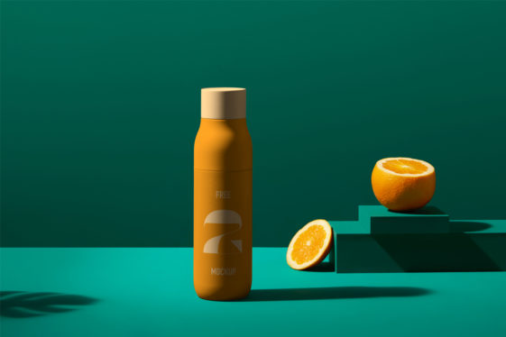 Juice Bottle PSD Mockup