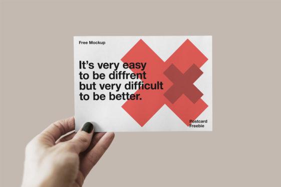 Free Postcard Mockup