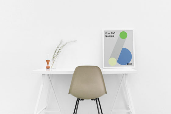 Poster on Table Mockup