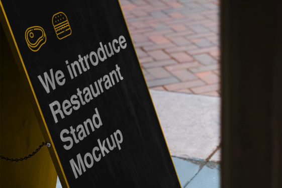 Restaurant Stand PSD Mockup