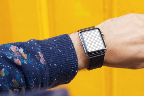 Apple Watch On Yellow